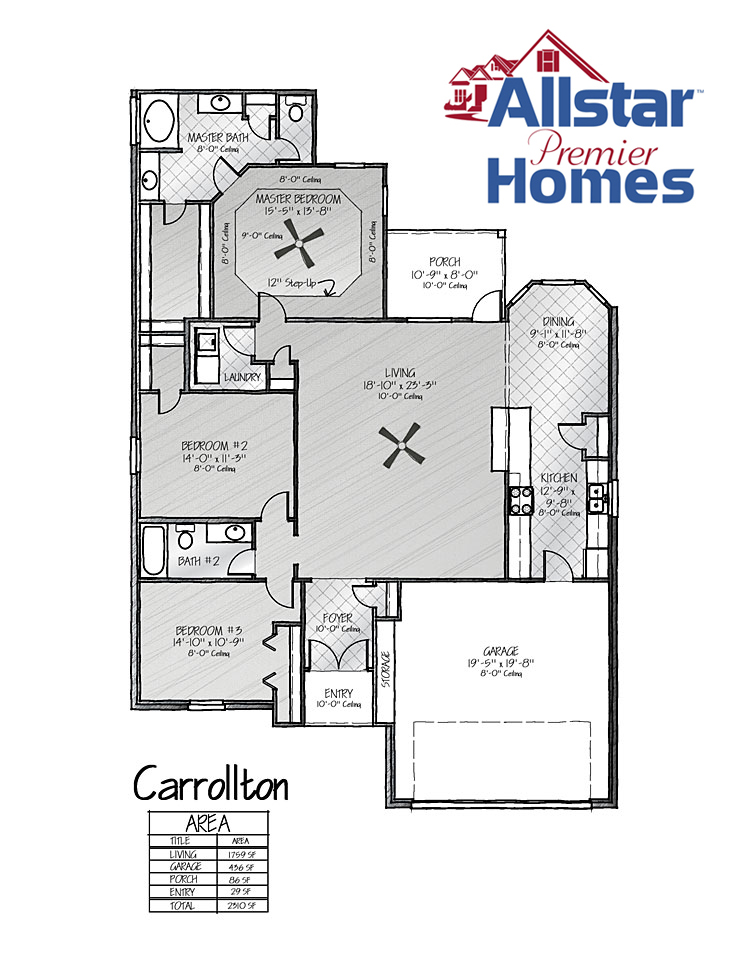 New home sample floor plans all star premier homes for Star home designs